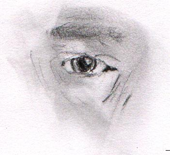 I drew this eye in drawing class.