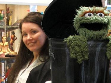 with a grouch