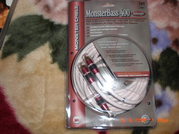 Monster Bass 400 Subwoofer 18ft