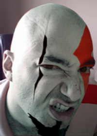 CheapyD as Kratos - Reduced for size restrictions.  Full size image at http://img299.imageshack.us/img299/8104/cagcheapydaskratoscrediwh0.png