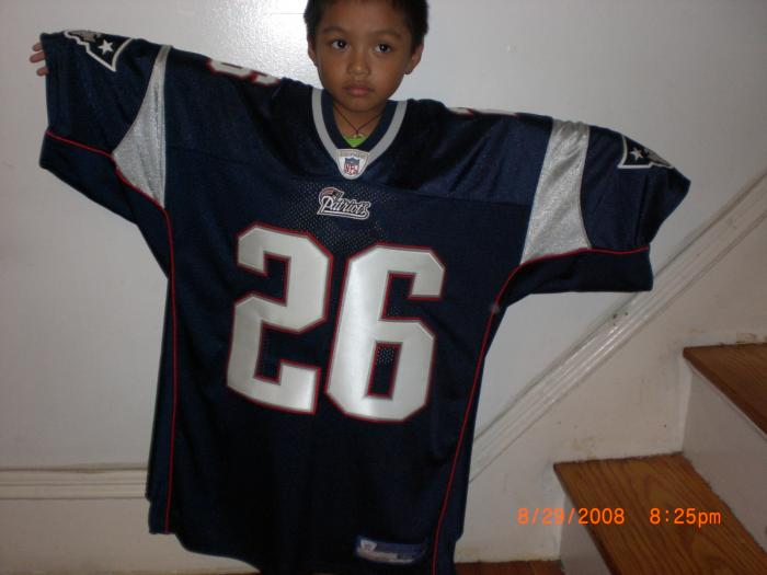 Aiden modeling in my Jersey (Front)