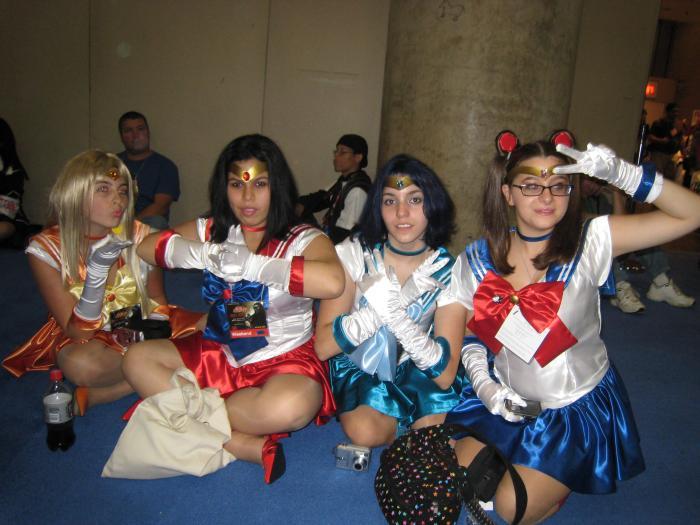 Sailor Moon school girls.