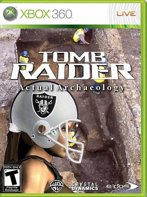 Create Tomb Raider boxart for an imaginary Tomb Raider game. http://kotaku.com/5082745/make-tomb-raider-win-tomb-raider