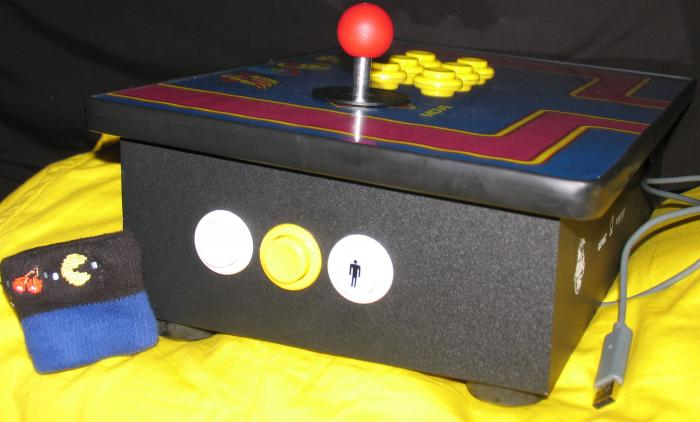Ms. Pac-Man Arcade Stick Side View