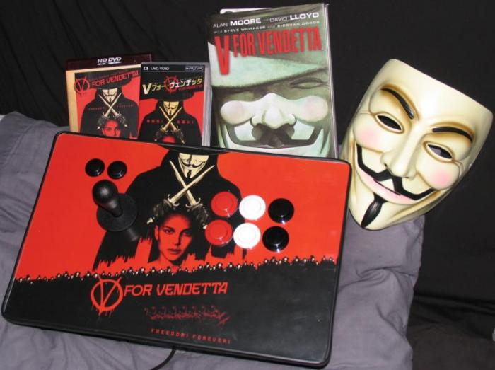 V For Vendetta Stick: Works with Xbox 360, Playstation 3, Wii, GameCube, and PC~