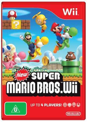 Wii New Super Mario Bros Wii pkg3D