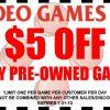 $5 Off Video Games Etc!