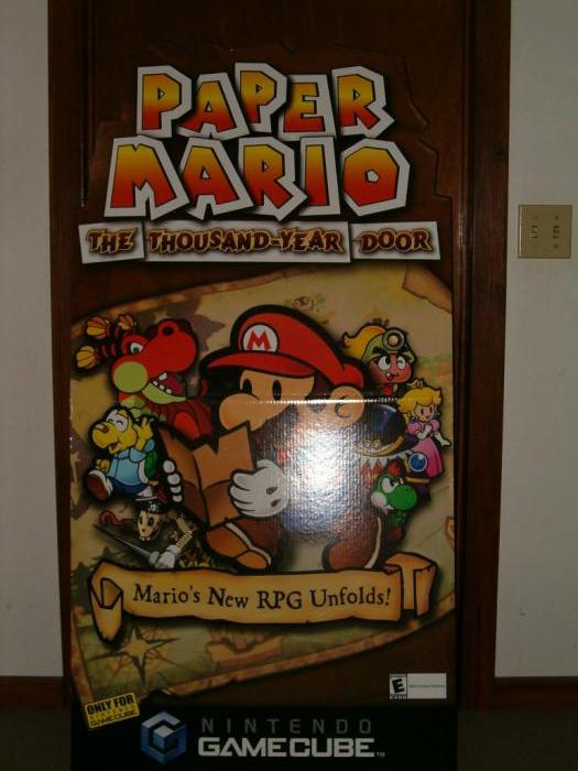 A Paper Mario standee that was given to me by a manager long ago.  (When it was still EB.)