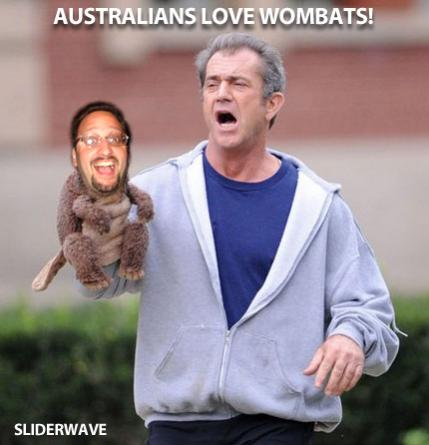 mel gibson wombat