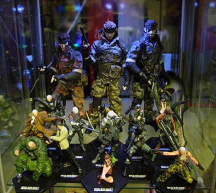 All three versions of Naked Snake aka Big Boss RAH figures. The smaller figures are the MGS2 trading figures. I imported all of them directly from Japan. They were all released years ago and very hard to find today.