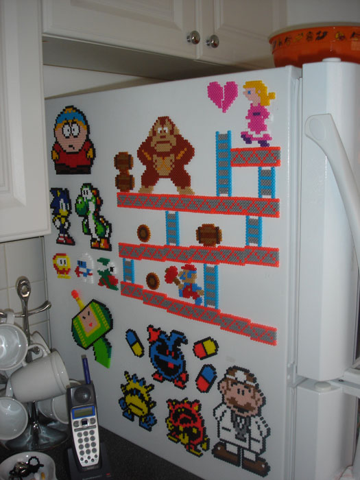 What we currently have on the side of our fridge.