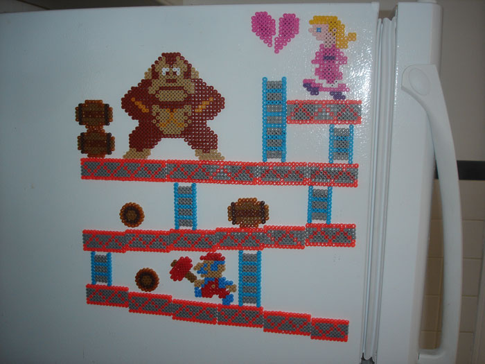 Donkey Kong set. All of the pieces are separate.