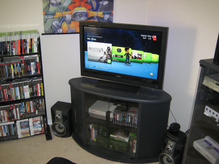 Another angle of console setup