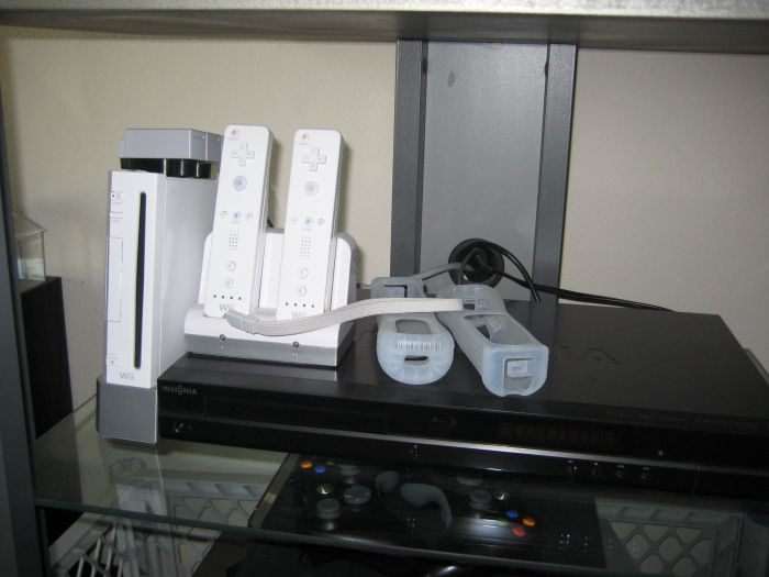 And lastly, in case you were wondering where the Wii stuff is, it's all downstairs in the Living room, since it is a more Family oriented system we can play together.