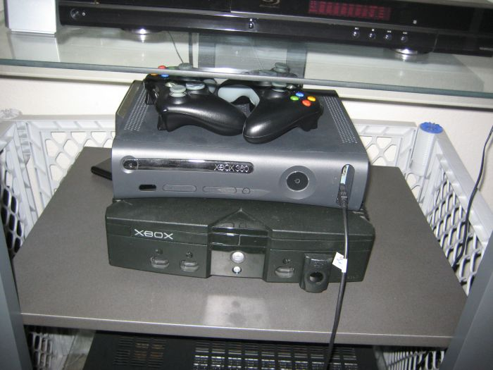 I also have my Original Xbox running XBMC, and my first 360 Elite downstairs which is mainly used as a Media Center Extender.