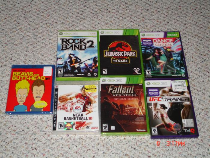 Xbox Games, Beavis & Butthead Blu, NCAA on PS3