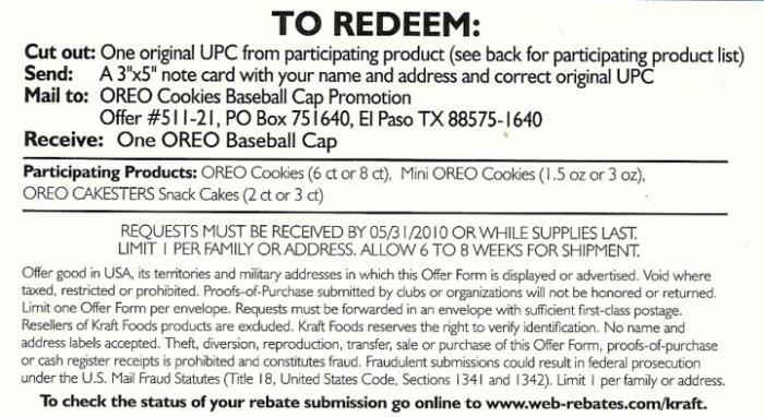 Oreo Cap Offer Instructions Oreo Cap Offer Gallery Cheap Ass Gamer