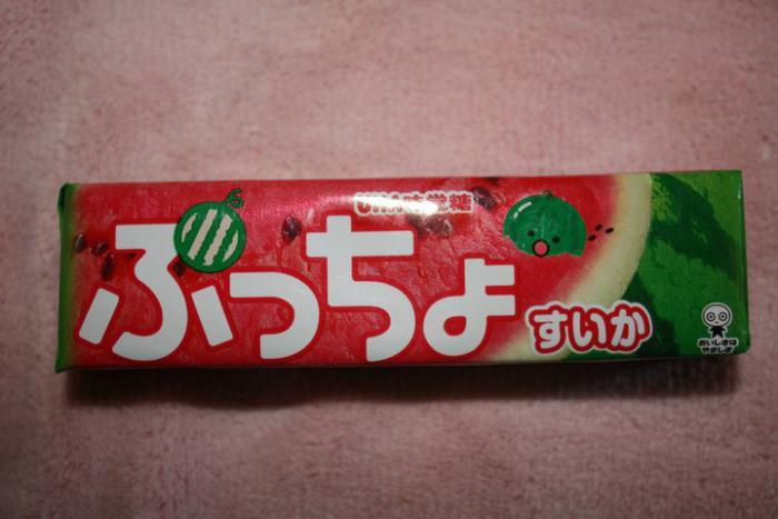 Watermelon fruit chew