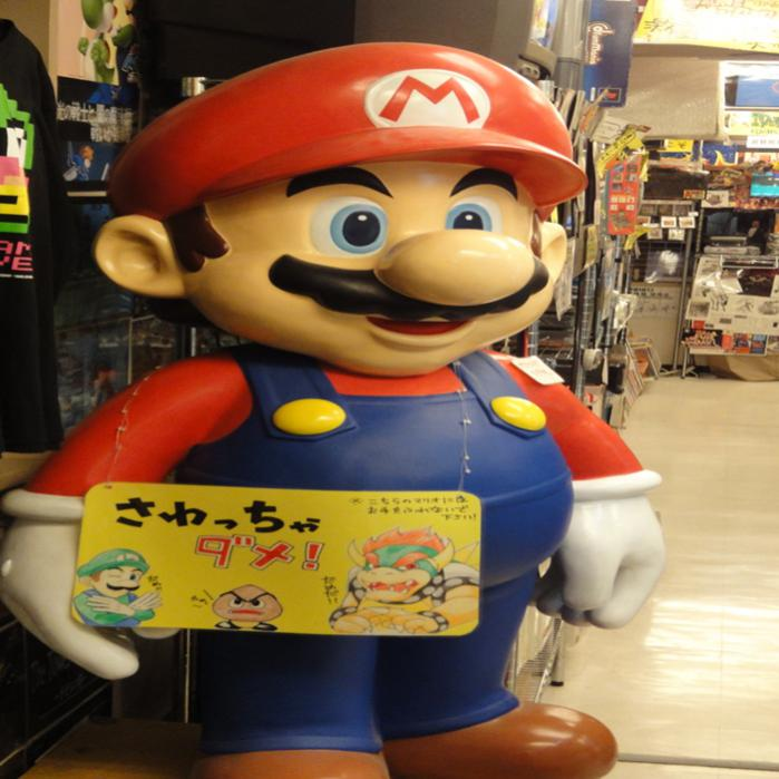 Big Mario Statue inside Super Potato.