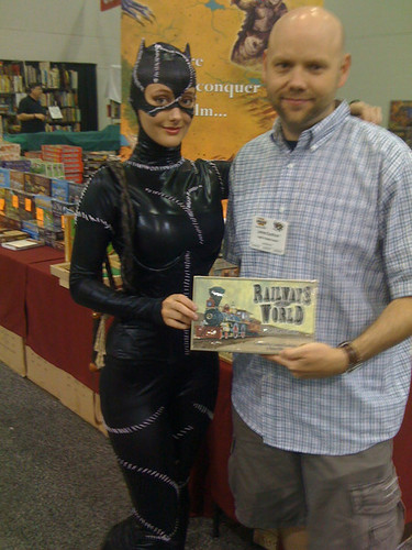 With Cat Woman - Origins Trade Show, summer 2010