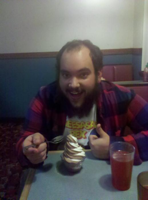 Ice Cream, Cheesasaurus Rex, and beard!