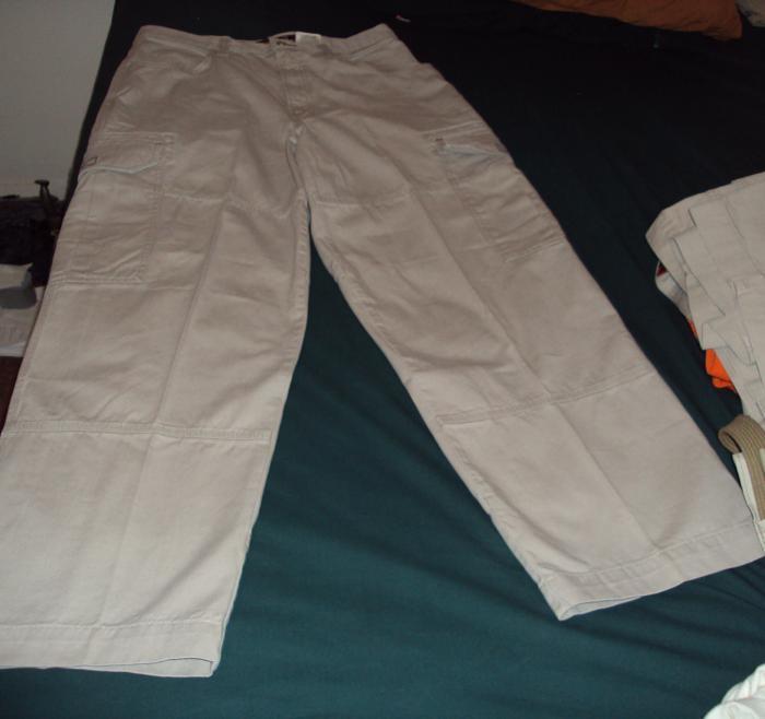 jnco off white  cargo pants w reflective bubble logo front w flash