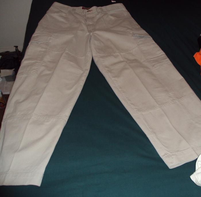 jnco off white cargo pants front w flash