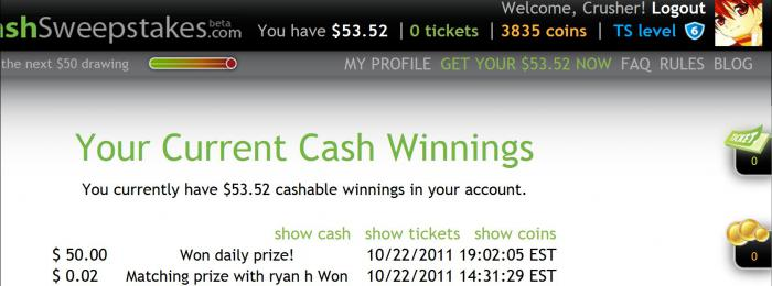 Win 10/22/11 $50