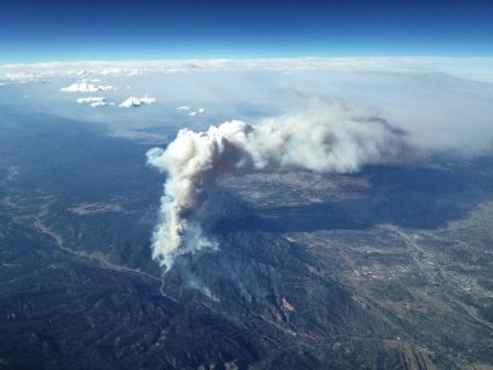 waldo canyon fire June 25 2012 Photo taken by a pilot flying over Colorado Springs