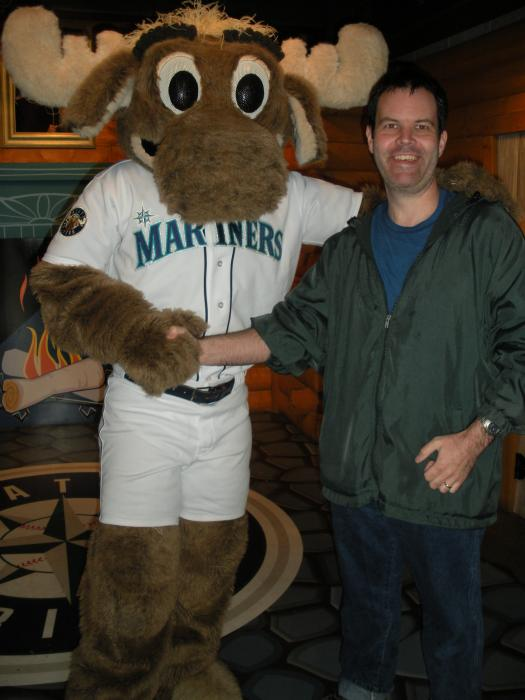 Me with a moose.