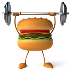 weightlifting Burger 1 Sm