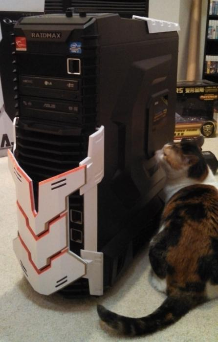 PC Exterior Front (and cat)