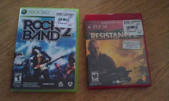 Rockband 2 and Resistance 2 (with Super Voucher) from GameStop for $5.88!