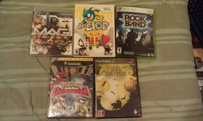 Mag, de Blob, and Rock Band from Gamestop for $3.90,