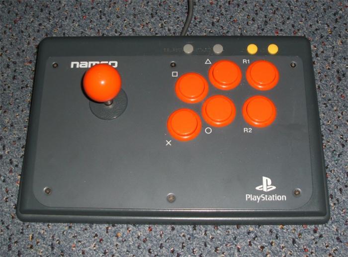 My Sanwa modded Namco joystick. Sanwa JLF stick and buttons.