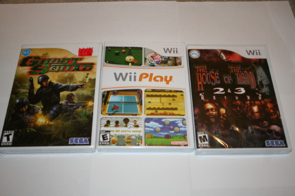 Shrink wrap collection Wii