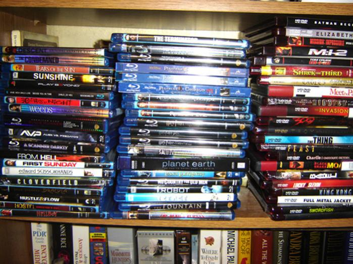 my growing Blu-Ray & HD-DVD collection