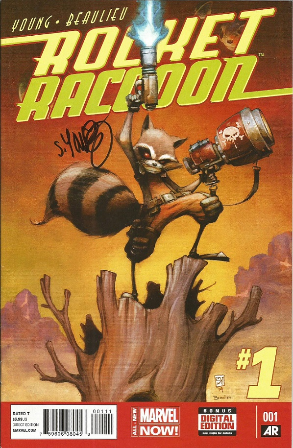 Rocket Raccoon #1 signed by Scottie Young