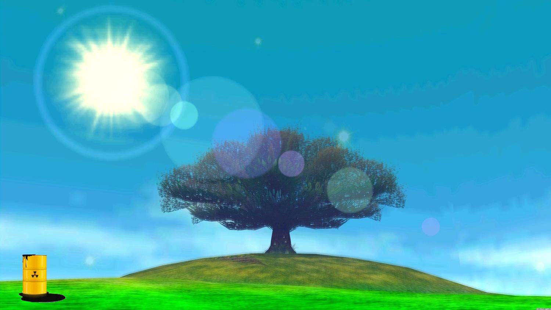2014.08.06 LoZ MM moon Baum with toxic barrel