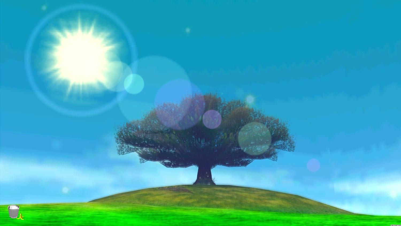 2014.08.06 LoZ MM moon Baum with trash and peel