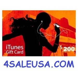 200 itunes gift card apple Usa iphone ipad Mac codes 200 voucher emailed