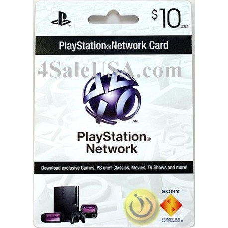 playstation network 10 prepaid sony Usa card Psn 10 emailed online