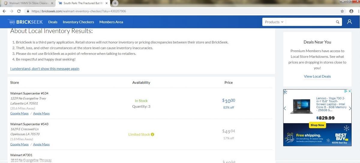 Walmart YMMV In Store Clearance Thread I (READ THE FAQs