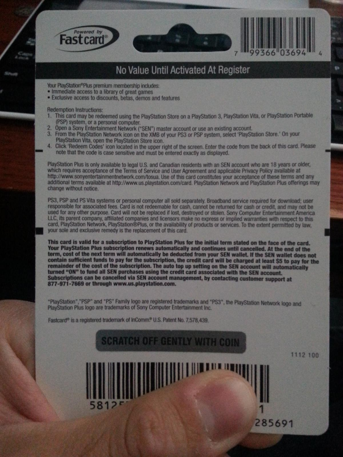 12 month playstation plus card 42 via paypal trading cheap ass gamer. Black Bedroom Furniture Sets. Home Design Ideas