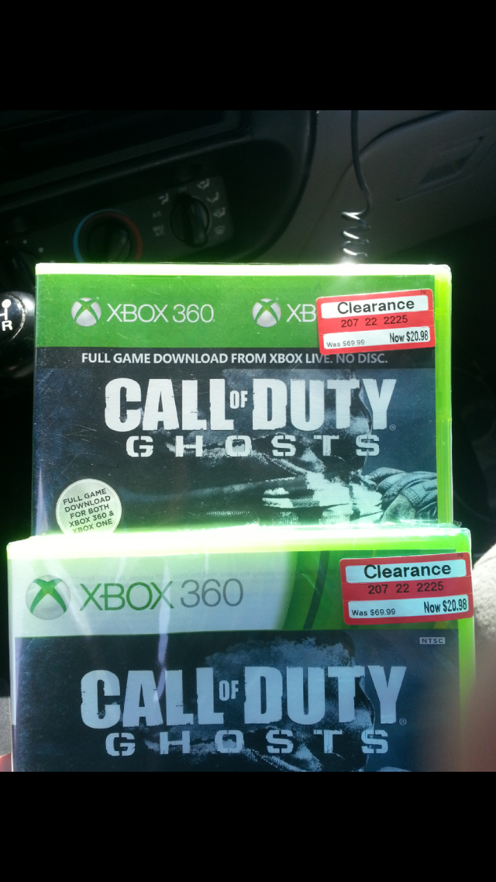 Call Of Duty Ghosts Xbox 360 And Xbox One Download 20 98 Target Ymmv Video Game Deals Cheap Ass Gamer