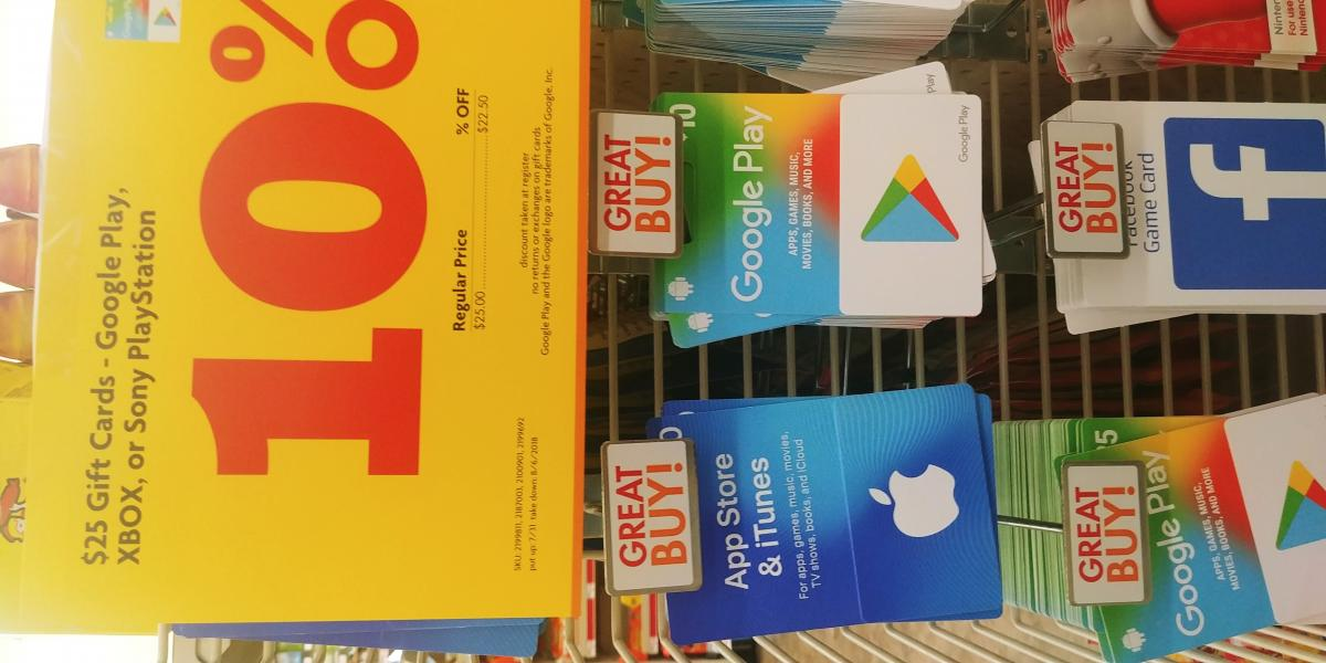 Family dollar 10% off xbox, sony, Google gift cards - Video