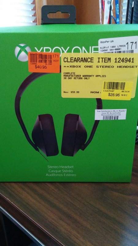 YMMV] MicroCenter - Xbox One Stereo Headset $28 96 - Video